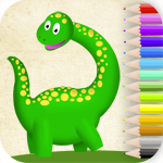 Dinosaurs coloring. Learning games for kid