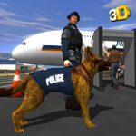 Police Dog Airport Criminal Chase - Arrest Robbers