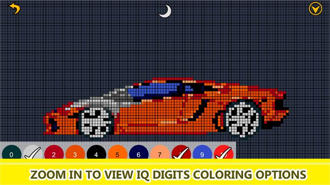 Get Super Cars Color By Number Pixel Art Vehicles Coloring