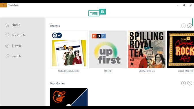 tunein radio free download for pc