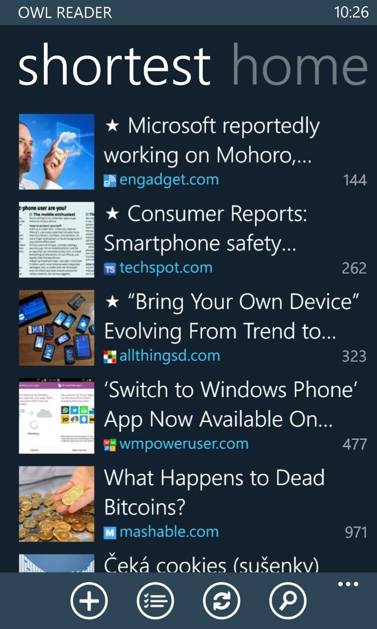 microsoft reading list app