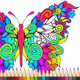 Recevoir Butterfly Coloring Book