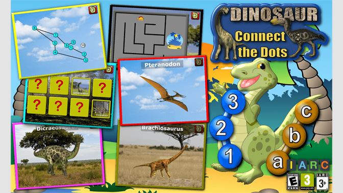 Get Kids Dinosaur Connect The Dots Puzzles Rex Teaches The Abc And