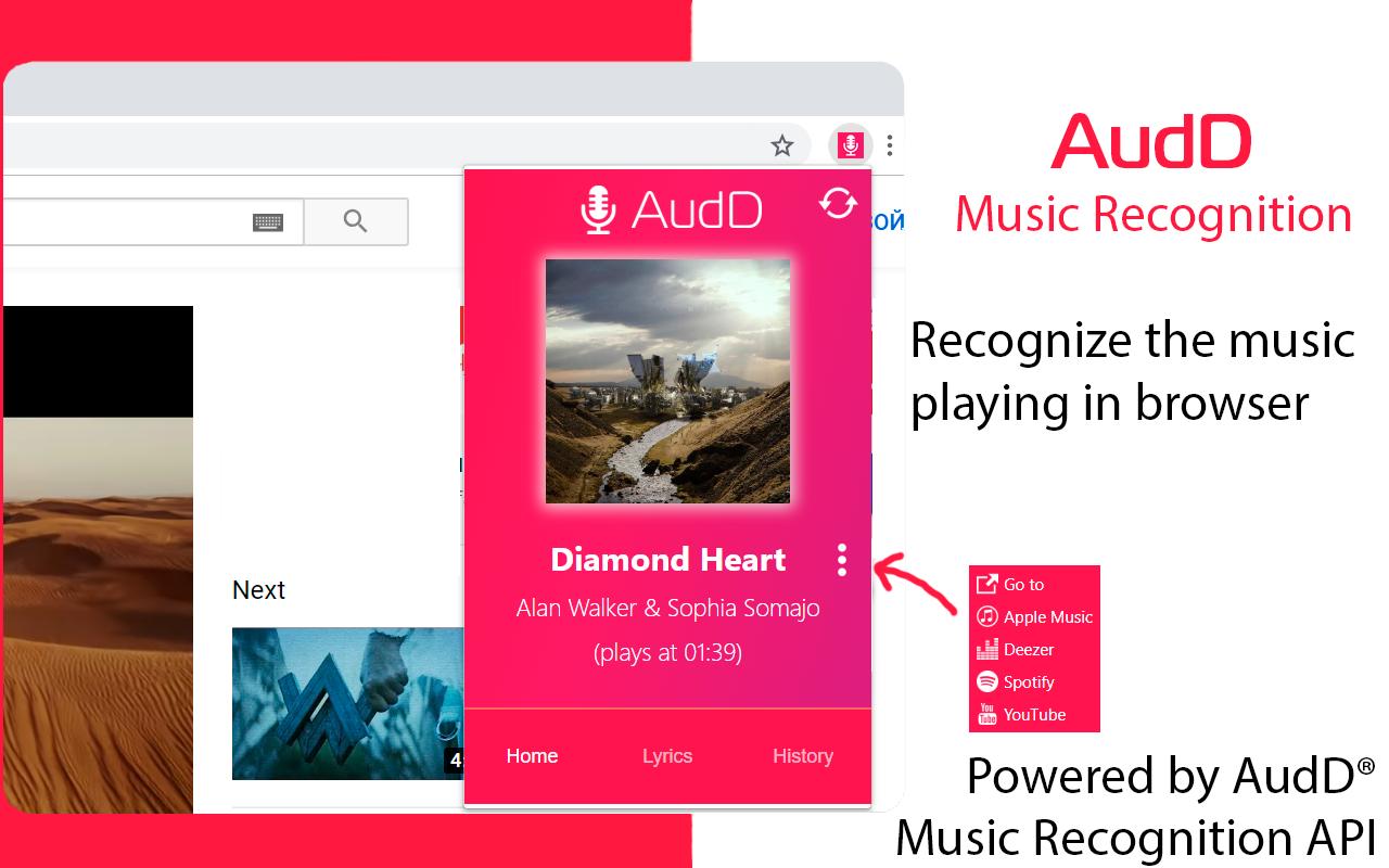 Audd Music Recognition Microsoft Edge Addons