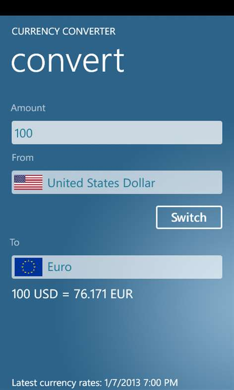Currency Converter Screenshots 2