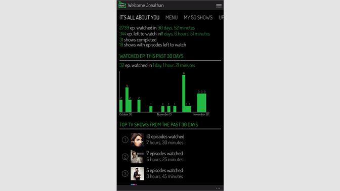 Get TV Show Tracker UWP - trakt tv client - Microsoft Store