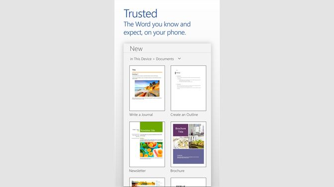 Get Word Mobile - Microsoft Store