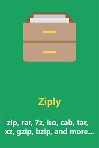 Ziply - best archiver for zip, rar, 7z, iso, cab, and more... Compress, extract and encrypt.