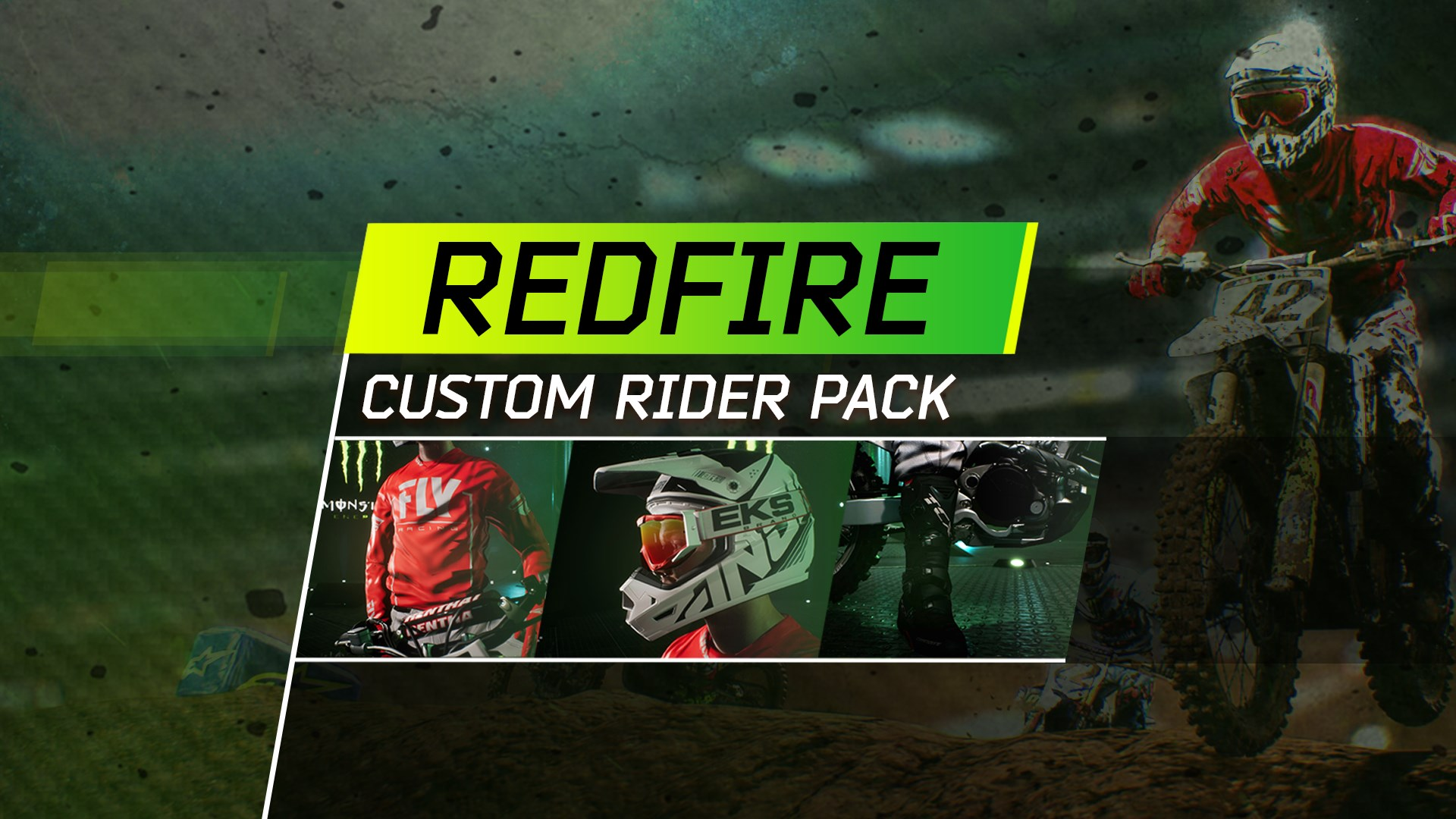 Monster Energy Supercross - Redfire Custom Rider Pack