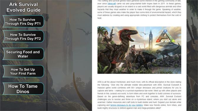 Get Ark Survival Evolved Guide - Microsoft Store