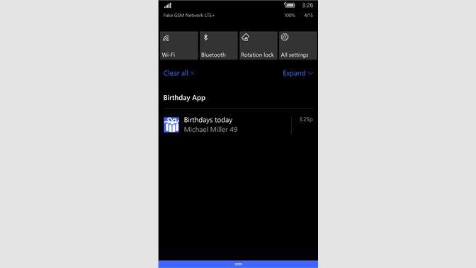 Birthday App Beziehen Microsoft Store De DE