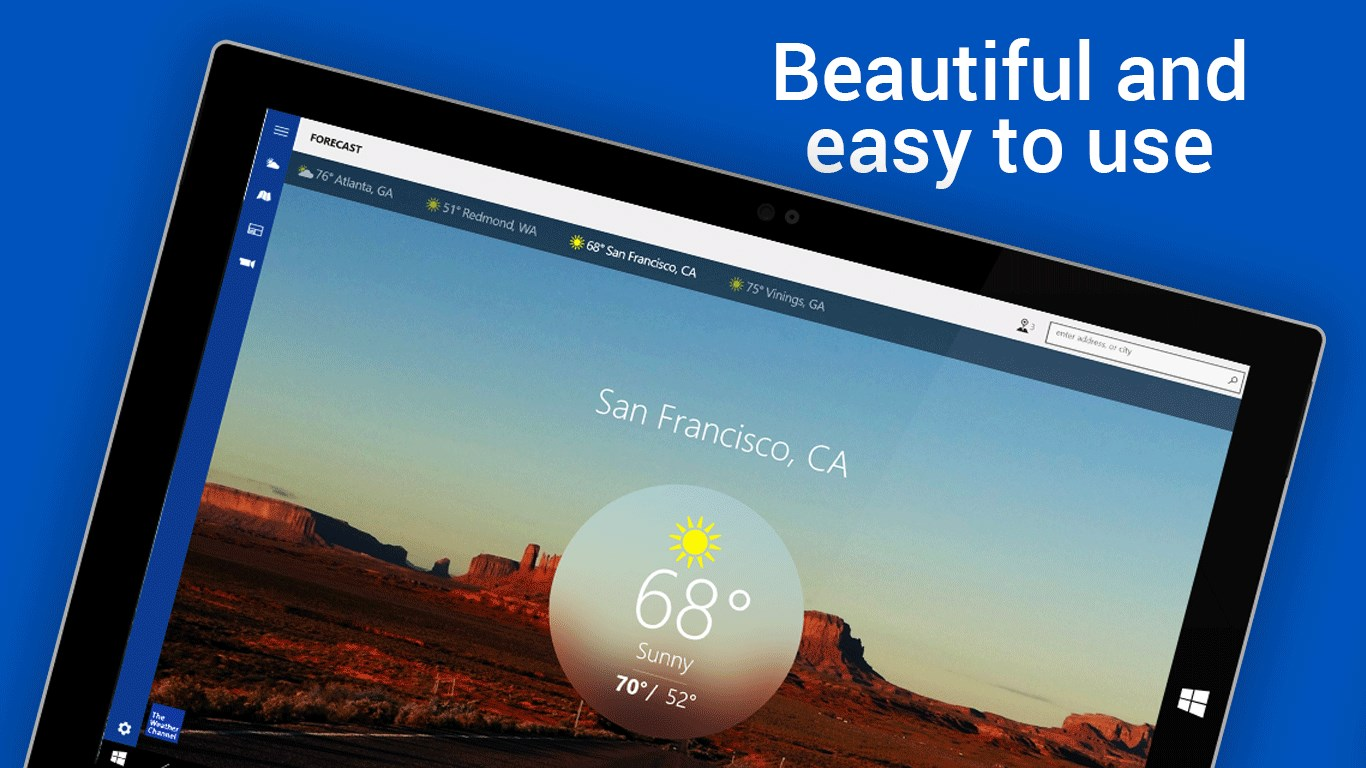 The Weather Channel for Windows 10