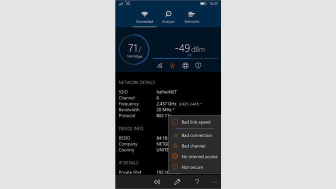 Get WiFi Analyzer - Microsoft Store