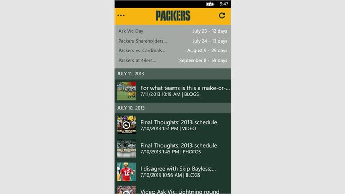 2b08255ab9913a Get Official Green Bay Packers - Microsoft Store