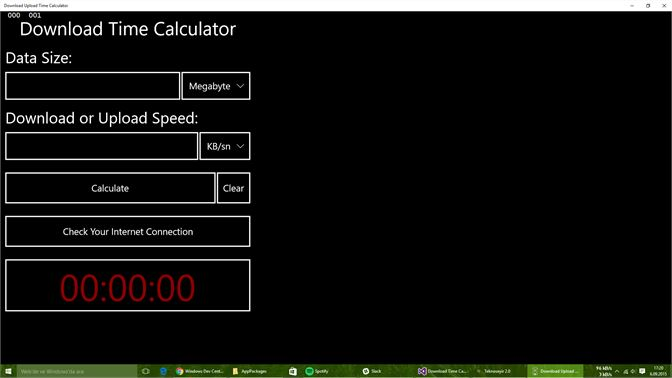 get download upload time calculator microsoft store
