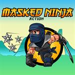 Masked Ninja Action Logo