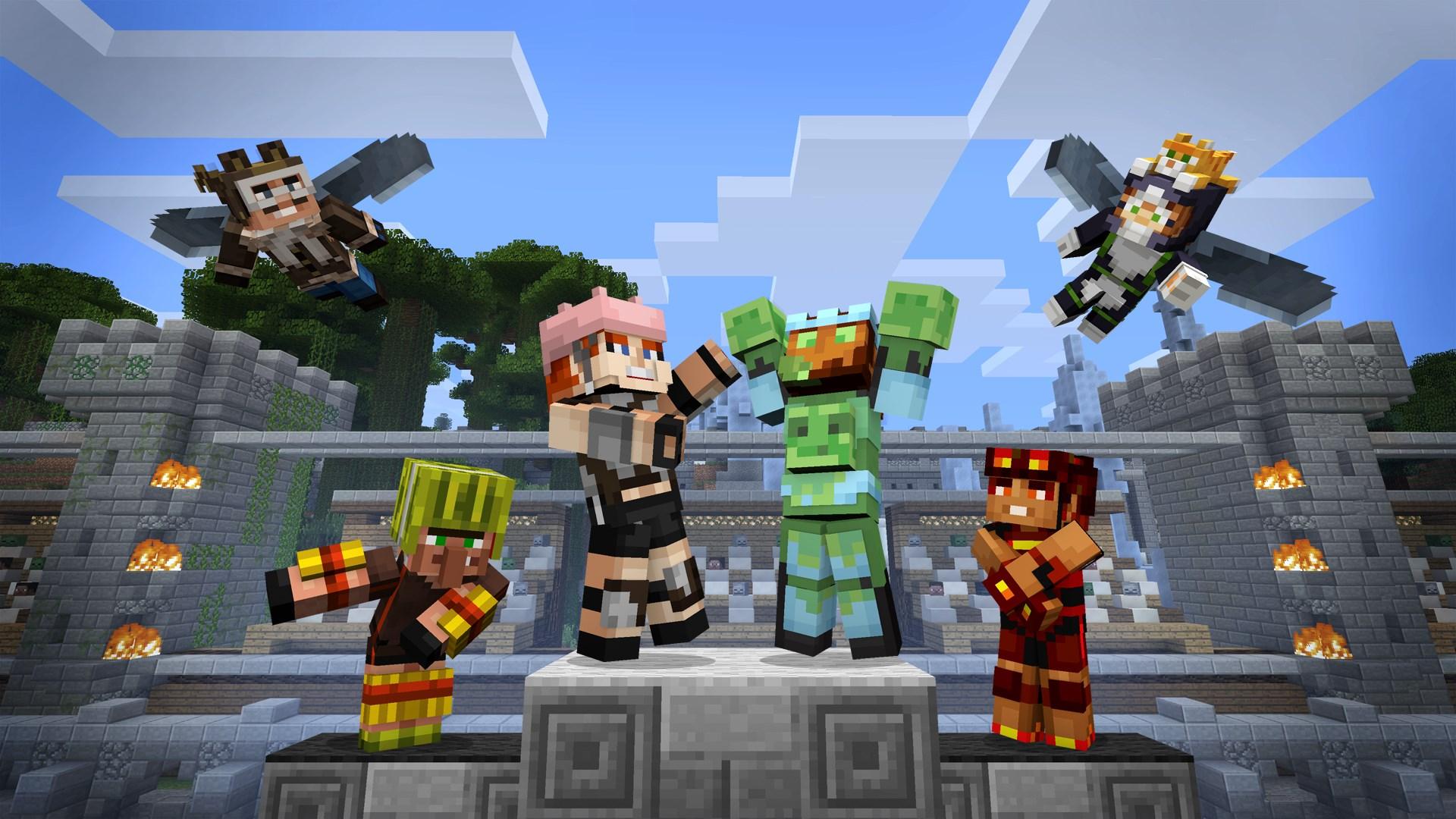 Minecraft Mini Game Heroes Skin Pack