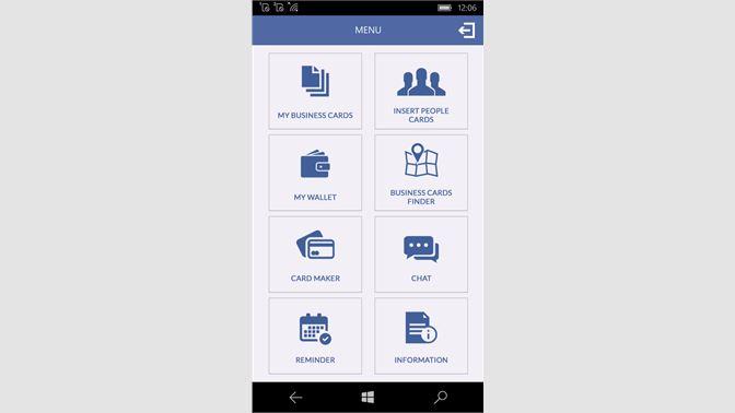 Get business cards info app microsoft store screenshot homepage screenshot dashboard screenshot business card template reheart Images