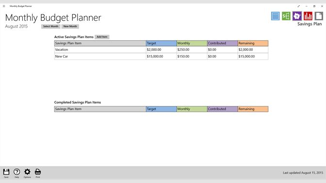 screenshot monthly budget page screenshot spending plan page screenshot saving plan page