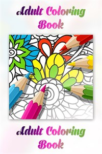Adult Coloring Book With Multiple Templates Colors