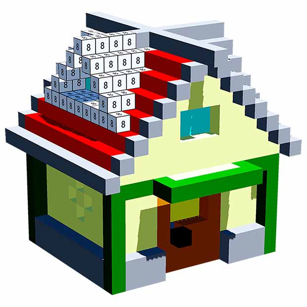 House 3D Color by Number - Voxel Coloring Book   FREE
