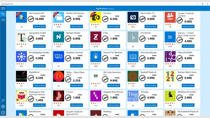 get app and game sales microsoft store