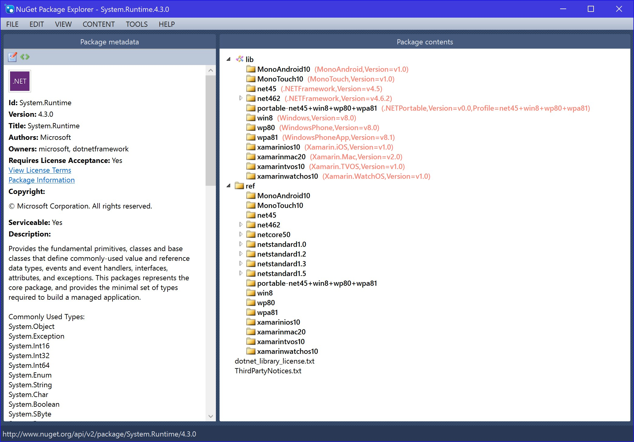 NuGet Package Explorer
