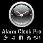 Alarm Clock Pro - free nightstand with facebook weather music radio news currency converter and world clock