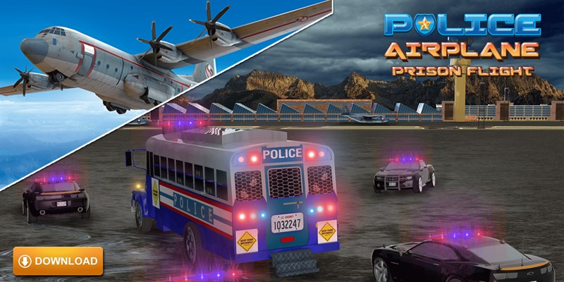 Get Police Airplane Prison Flight - Criminal Transport