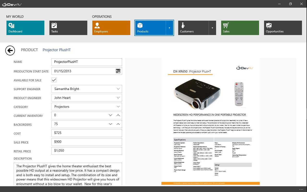 DevExpress Windows 10 Hybrid App Demo for Windows 10