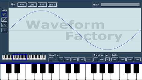 Waveform factory Captures d'écran 1