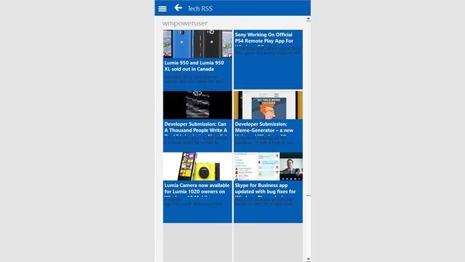 Get Tech-RSS - Microsoft Store