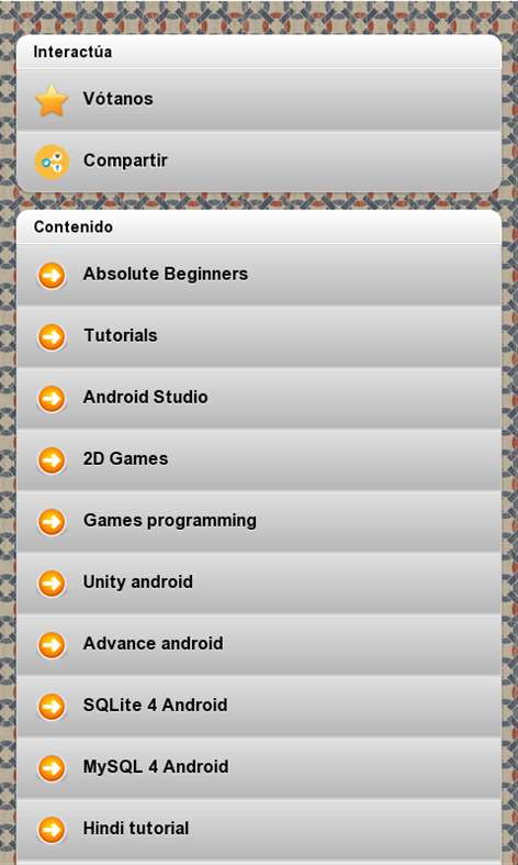 Android development Screenshots 1