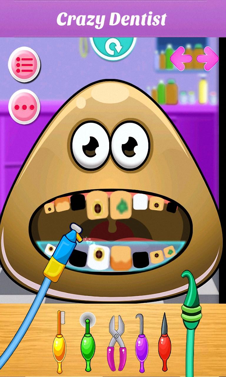 Baby Pou At Dentist