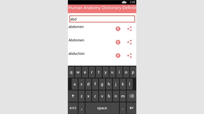 Get Human Anatomy Dictionary Definitions Terms - Microsoft Store