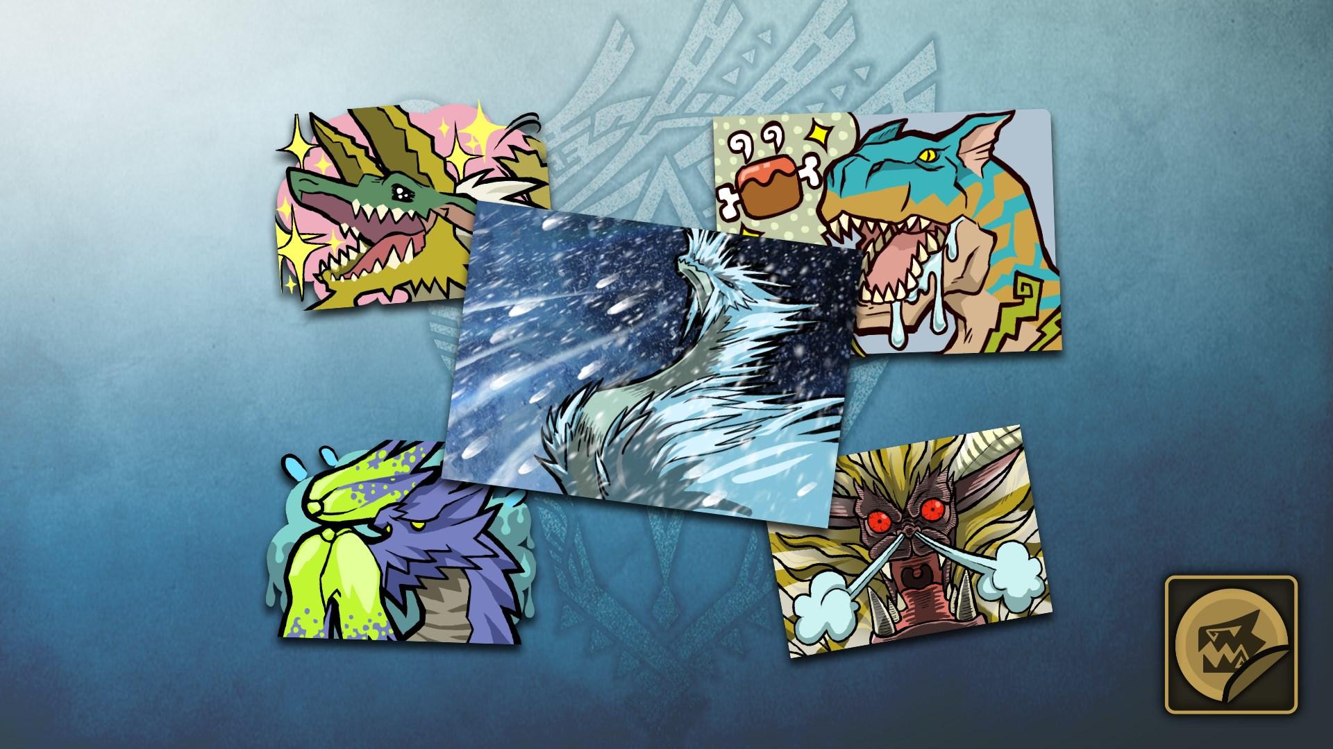 MHW:I Set de stickers : Monstres Iceborne