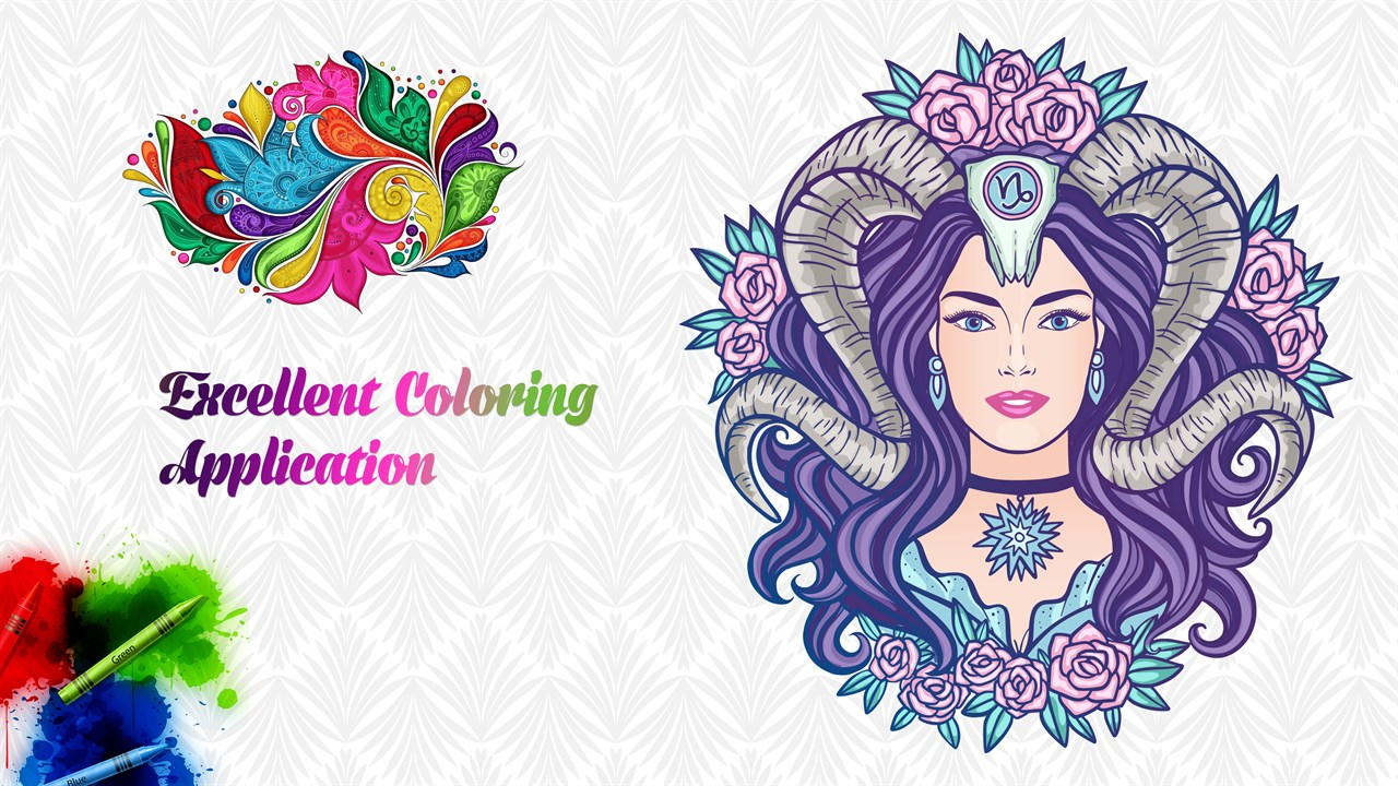 Get Adult Coloring Book With Multiple Templates & Colors - Microsoft ...