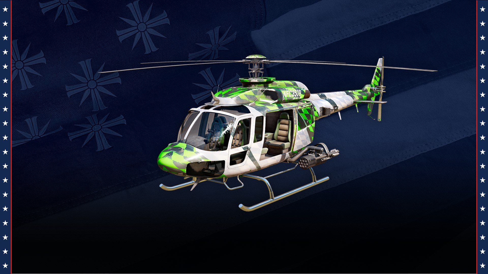 FAR CRY 5 - Helicopter with Aerial Force Skin