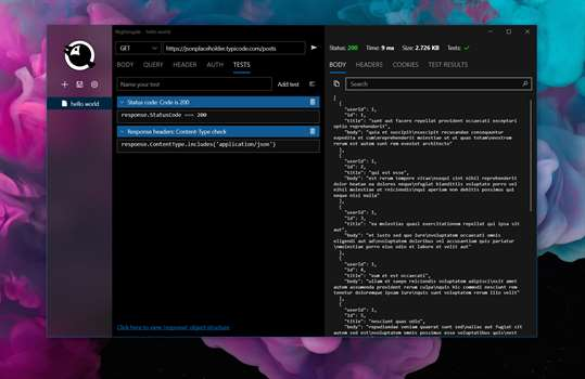 Nightingale REST API Client screenshot 1