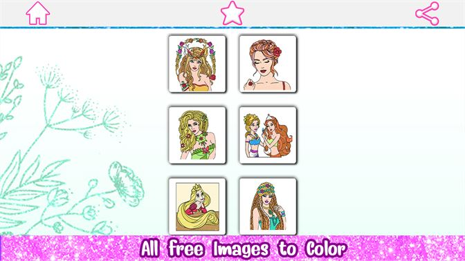 Recevoir Princess Glitter Color By Number Girls Coloring