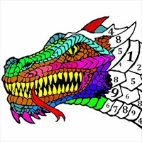 8400 Coloring Book Puzzles And Dragons HD
