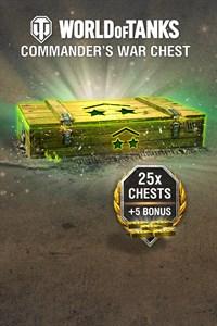World of Tanks - 25 Commander's War Chests + 5 Bonus!