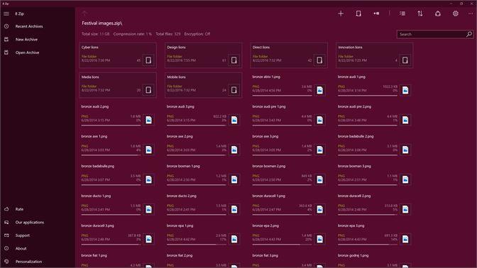 Buy 8 Zip Pro - advanced archiver for Zip, Rar, 7Zip, 7z, ZipX, Iso, Cab   Create, unpack and encrypt  - Microsoft Store