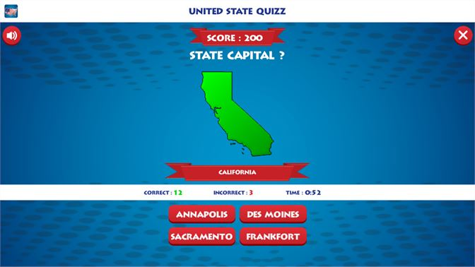 Fifty Capital States of USA-Geography Map Trivia beziehen ...