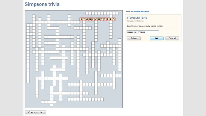 crossword generator software