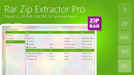 Rar Zip Extractor Pro screenshot