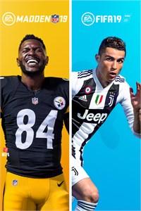 Carátula para el juego Madden NFL 19 - FIFA 19 Bundle de Xbox 360