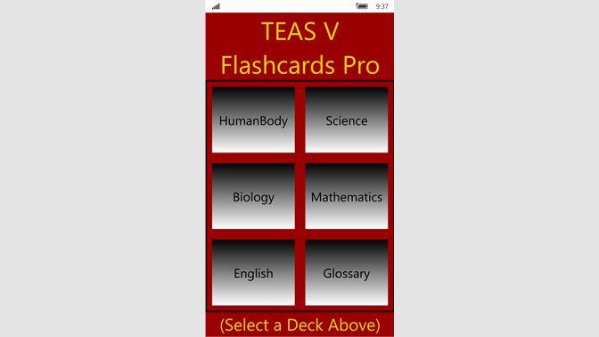 Buy TEAS V Flashcards Pro - Microsoft Store