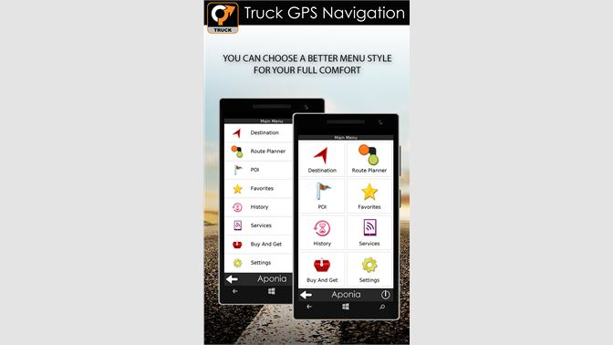 Get Truck GPS Navigation by Aponia - Microsoft Store