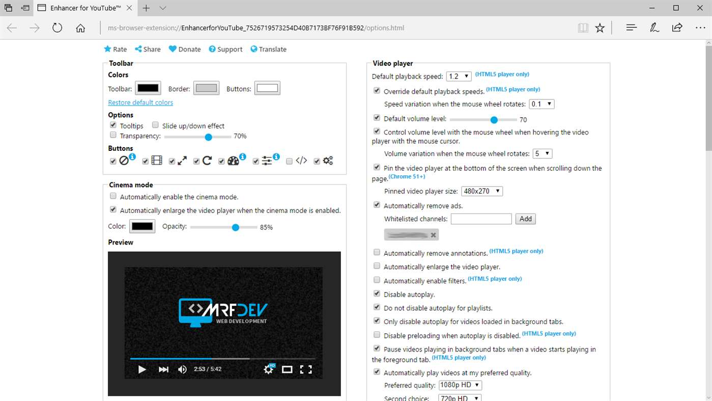 Enhancer for YouTube extension beings a better YouTube experience to